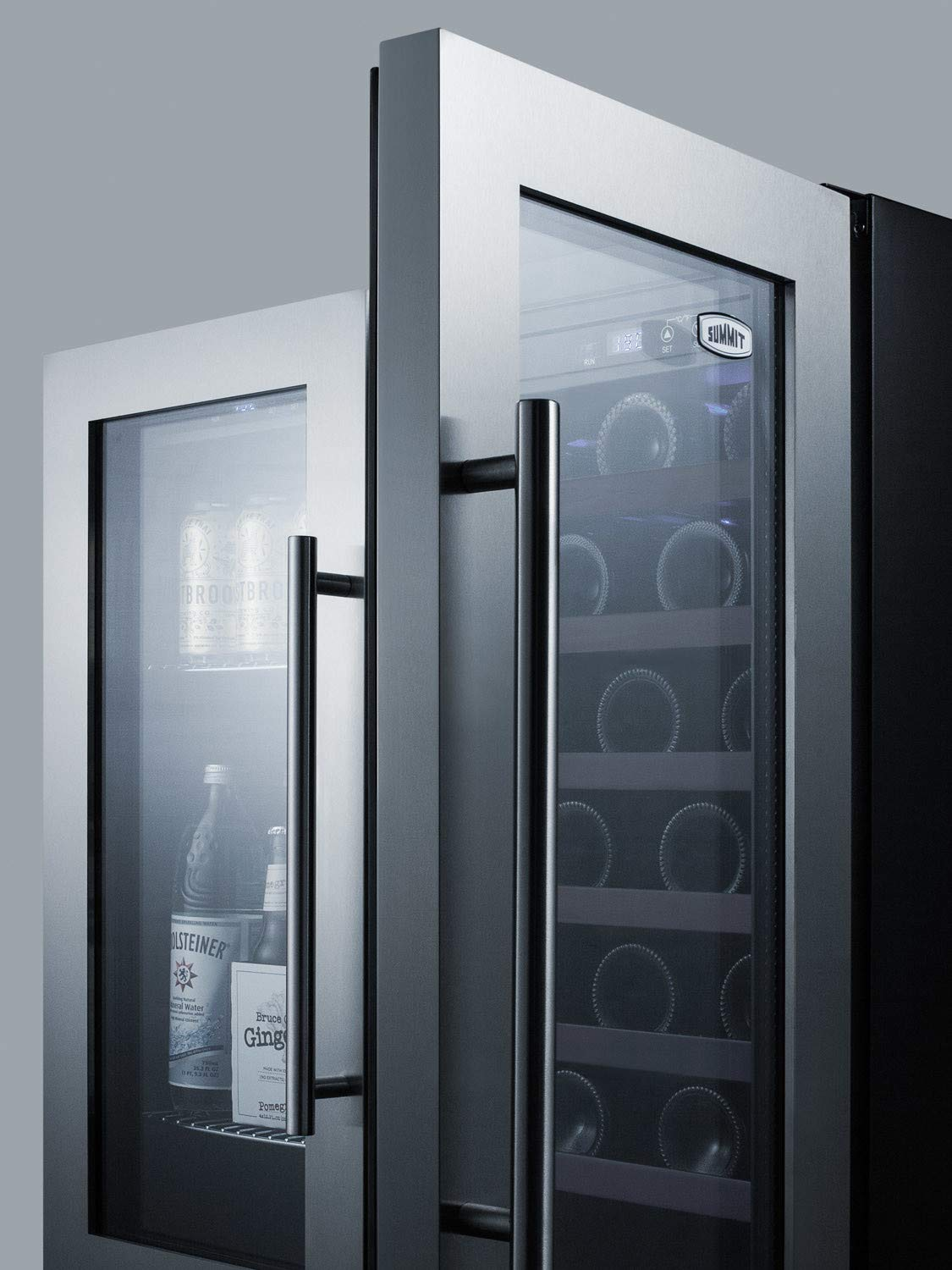 Summit SWBV3067B 30 Built-In Dual Zone Wine and Beverage Center