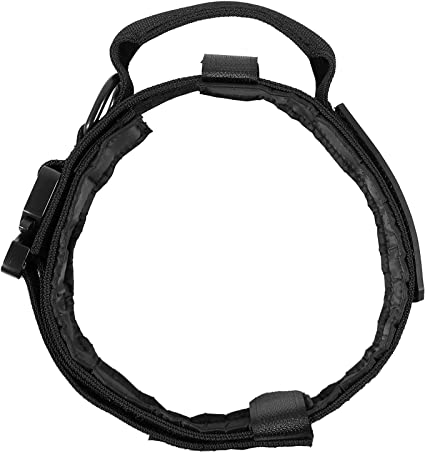 LIVABIT Heavy Duty Nylon Tactical Dog Pet Training Collar Handle Medium OD Green