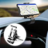 Car Phone Holder 360-Degree Rotation Cell Phone Holder Suitable for 4 to 6.5 inch Smartphones,Rotating Dashboard Clip Mount Stand