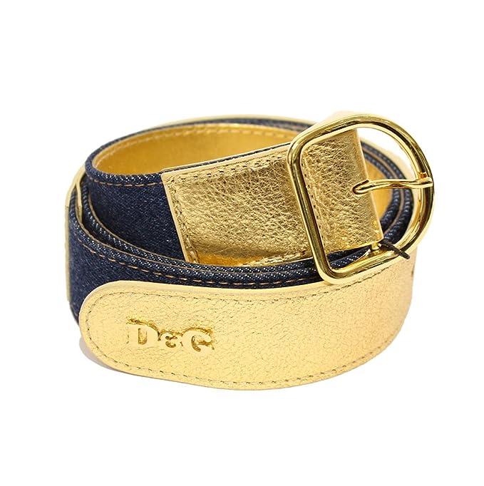 Dolce   Gabbana - Ceinture - Femme Gold-Denim 100 cm  Amazon.fr ... 21b34232259