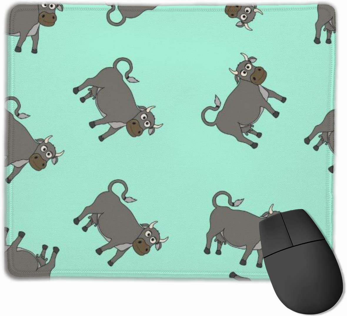 Mouse Pad Cartoon Cow Seamless Smooth Comfortable Gaming Mouse Pad with Non-Slip Rubber Base