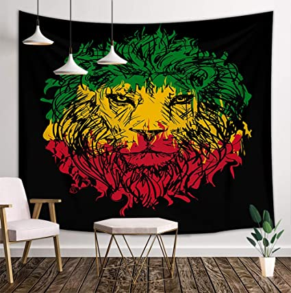 DYNH Lion Tapestry, Safari Animals Decor with Flags, Wall Tapestries Decorating A Bedroom To Look Like Safari on master bedroom african safari, living room decorating ideas safari, bedroom decorating ideas safari, home decorating ideas safari, master bedroom room ideas safari, decorating your bedroom, decorating safari theme room, decorating with light colors in bedroom,