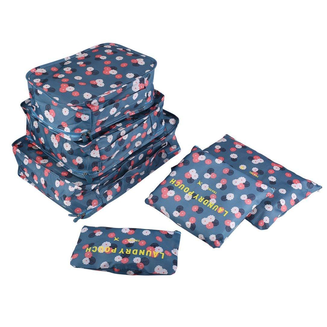 6pcs / set di immagazzinaggio borsa da viaggio Set per i vestiti ordinato dell'organizzatore del sacchetto di Valigia casa armadio Divisori Contenitore di imballaggio sacchetto della lavanderia Monllack