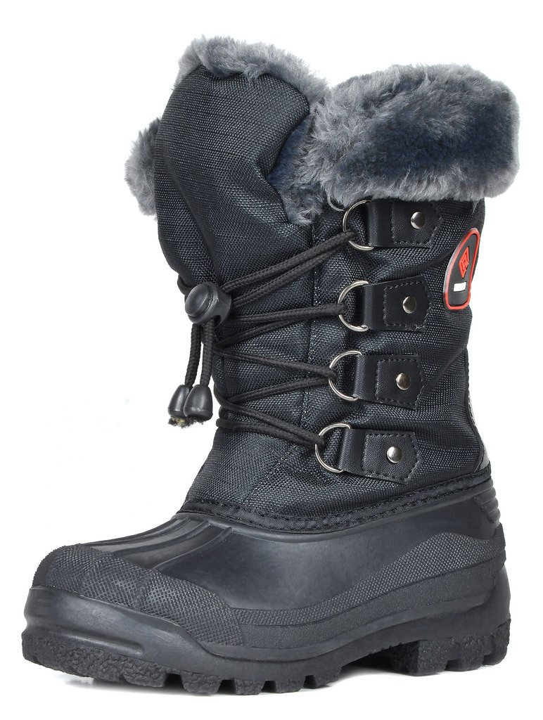 DREAM PAIRS Little Kid Maple Black Knee High Winter Snow Boots Size 2 M US Little Kid