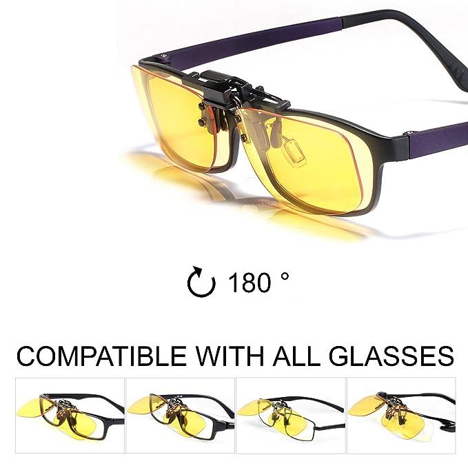 35 opinioni per KLIM OTG Clip on lenti Occhiali per Bloccare la Luce Blu, Alta Protezione per