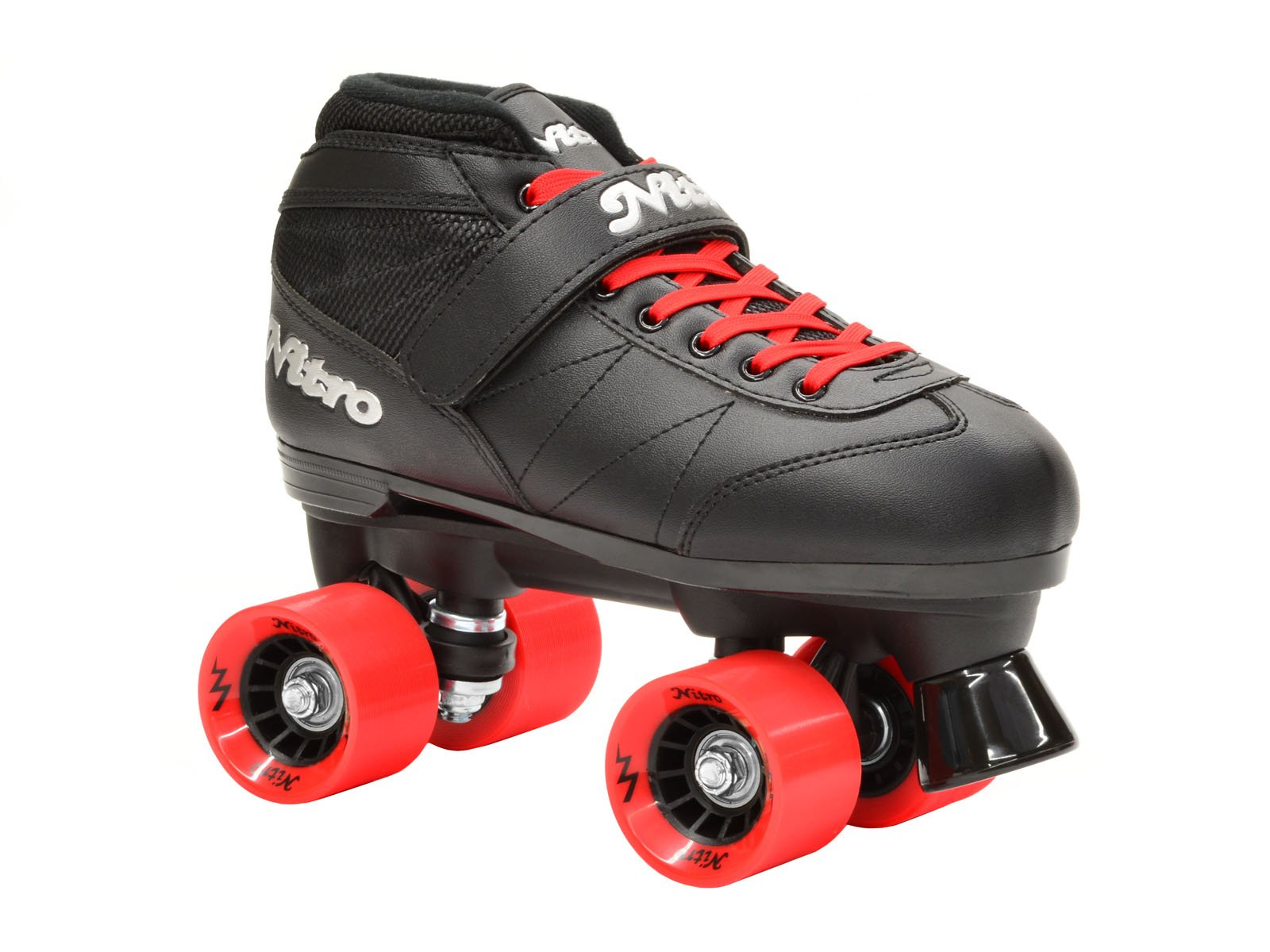Epic Skates Super Nitro Red Quad Speed Skates, Black/Red, Adult 5