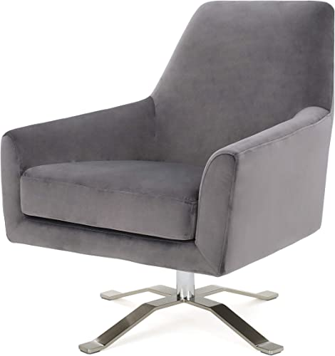 Christopher Knight Home Ailis Velvet Swivel Club Chair