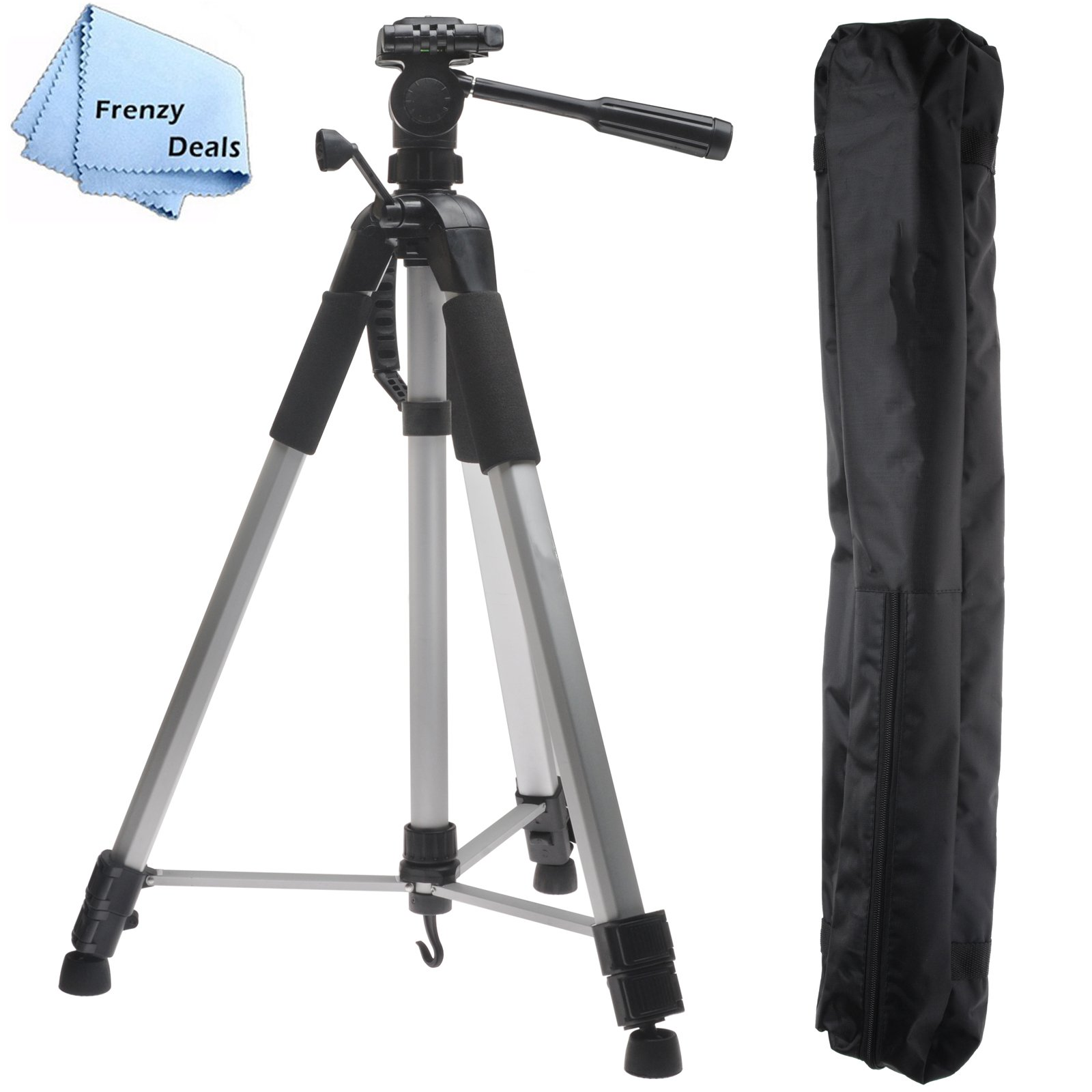 72'' Inch Heavy Duty Performance Tripod for all DSLR Cameras & Camcorders + FrenzyDeals Microfiber Cloth