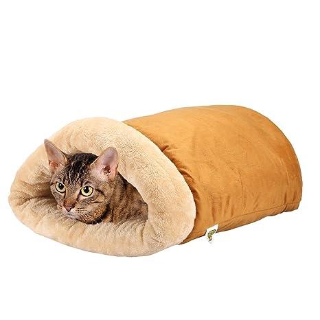 Pet Magasin - Cama iglú para gatos Un saco acogedor [Extra Cómodo y Suave]