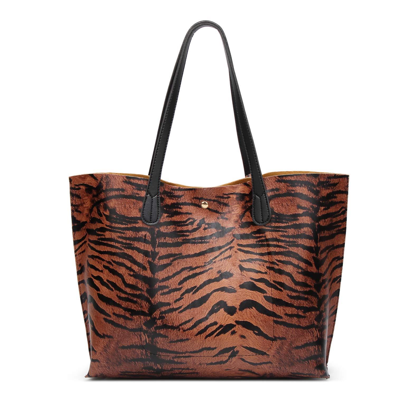 f18826f60595 SIFINI Women Tote Bag Tassels Faux Leather Bags Simple Shoulder Handbag  with Fashion Small Wristlet Purses