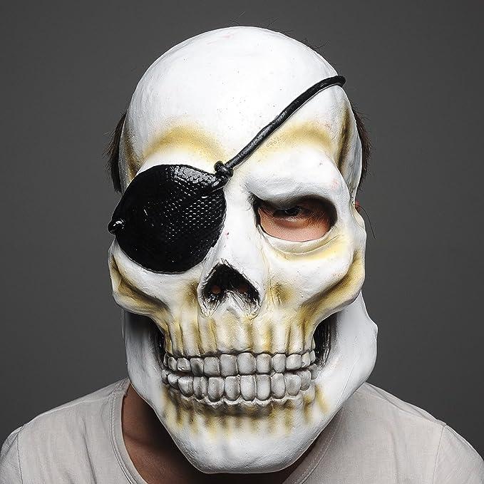 Maschera GIGANTE Pirata Maschera Halloween Horror lattice Creepy