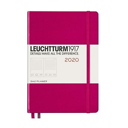 Agenda de 2020, tapa dura, A5, color baya, inglés: Amazon.es ...