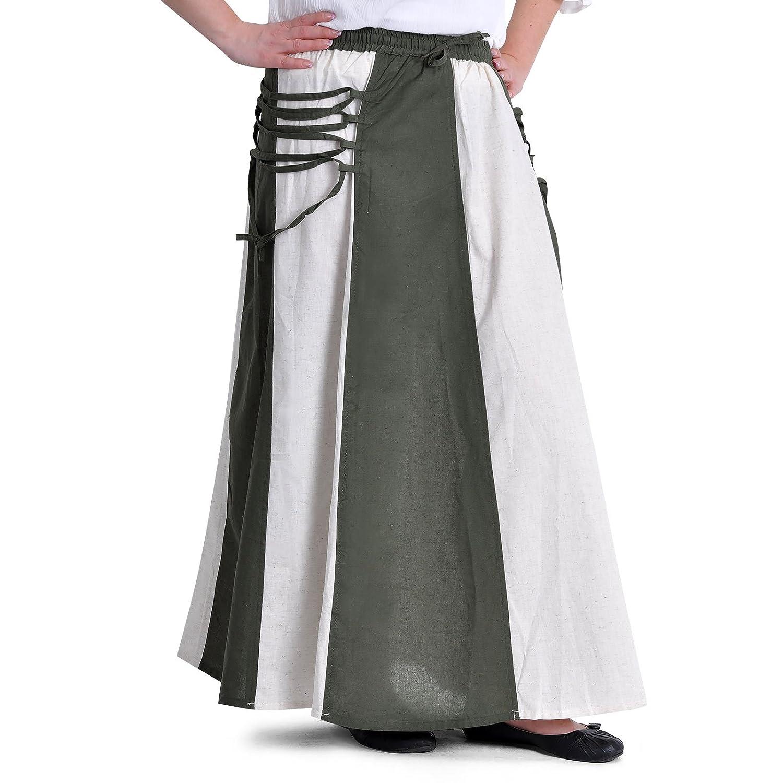 Falda medieval con cinturilla elástica cordón de cierre de dos ...