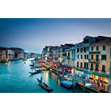 Shayee Colorful Water City Venice Pictures 1000 Pieces Wooden Jigsaw Puzzle for Adult Home Wall Decoration
