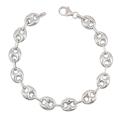 Bracelet Argent 925/000 , Grain de Café , Homme , 20 cm