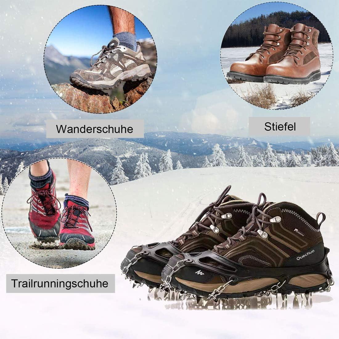 Camonti - Crampones para botas de montaña, crampones de hielo con ...