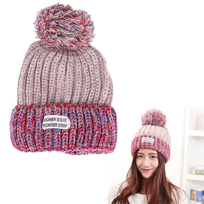 f627948a1ba Broadroot Family Matching Hats Winter Knitting Hat Cute Ball Adult Kids Cap(06)   Amazon.co.uk  Clothing