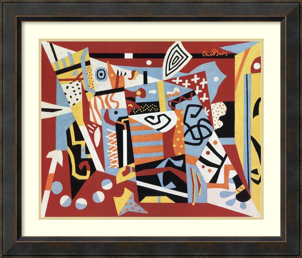 アートフレーム印刷'ホットstill-scape for Six colors- 7th Avenueスタイル、1940 ' by Stuart Davis Size: 33 x 28 (Approx), Matted 3801250 Size: 33 x 28 (Approx), Matted Signore Bronze,mat:pure White (Off White) B01L8JYLVU