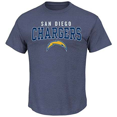 a747ebc1 Image Unavailable. Image not available for. Color: San Diego Chargers  Majestic NFL Red Zone Men's Short Sleeve Premium T-Shirt