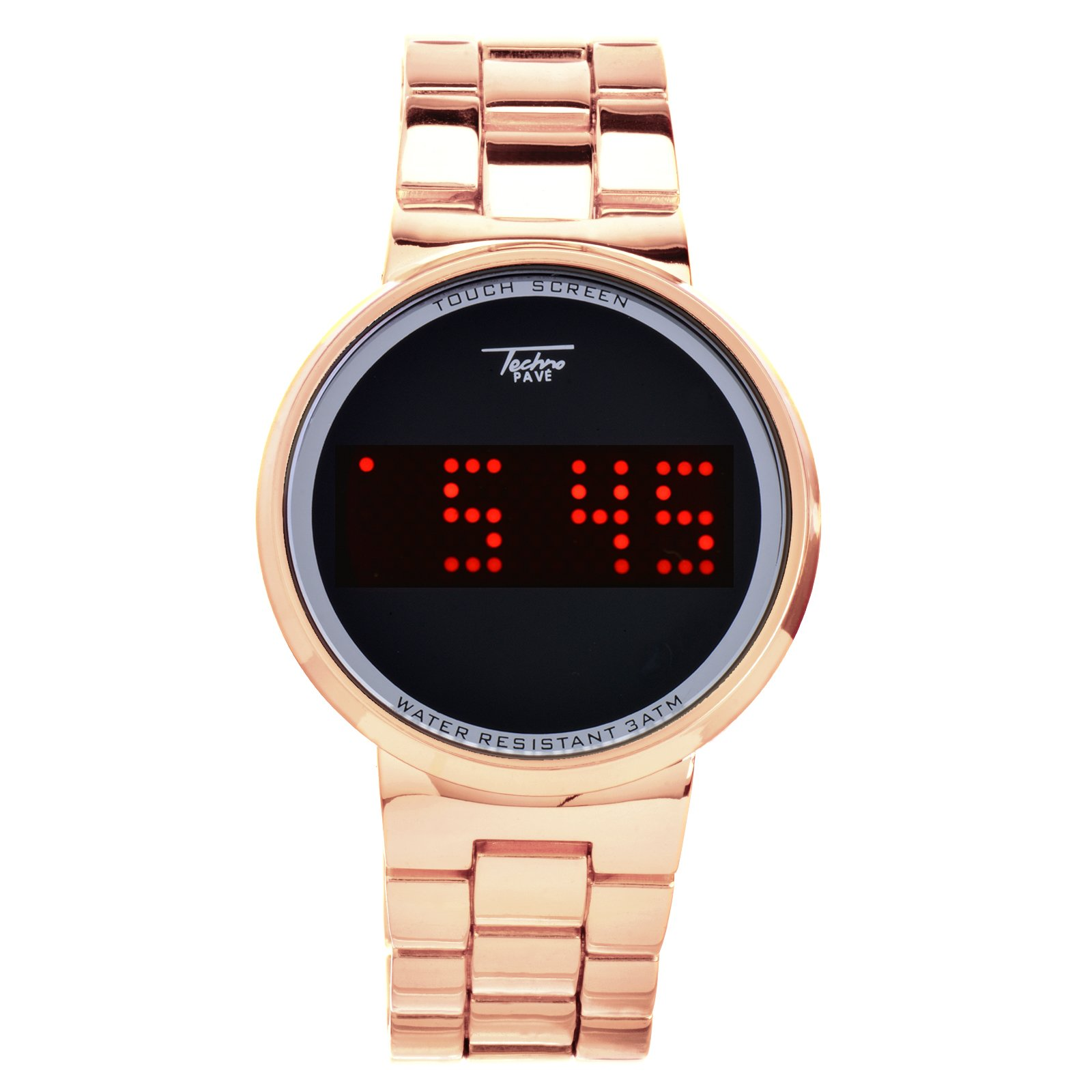 Rose Gold Plated Digital Touch Screen Metal Band Watch WM 8164 RG