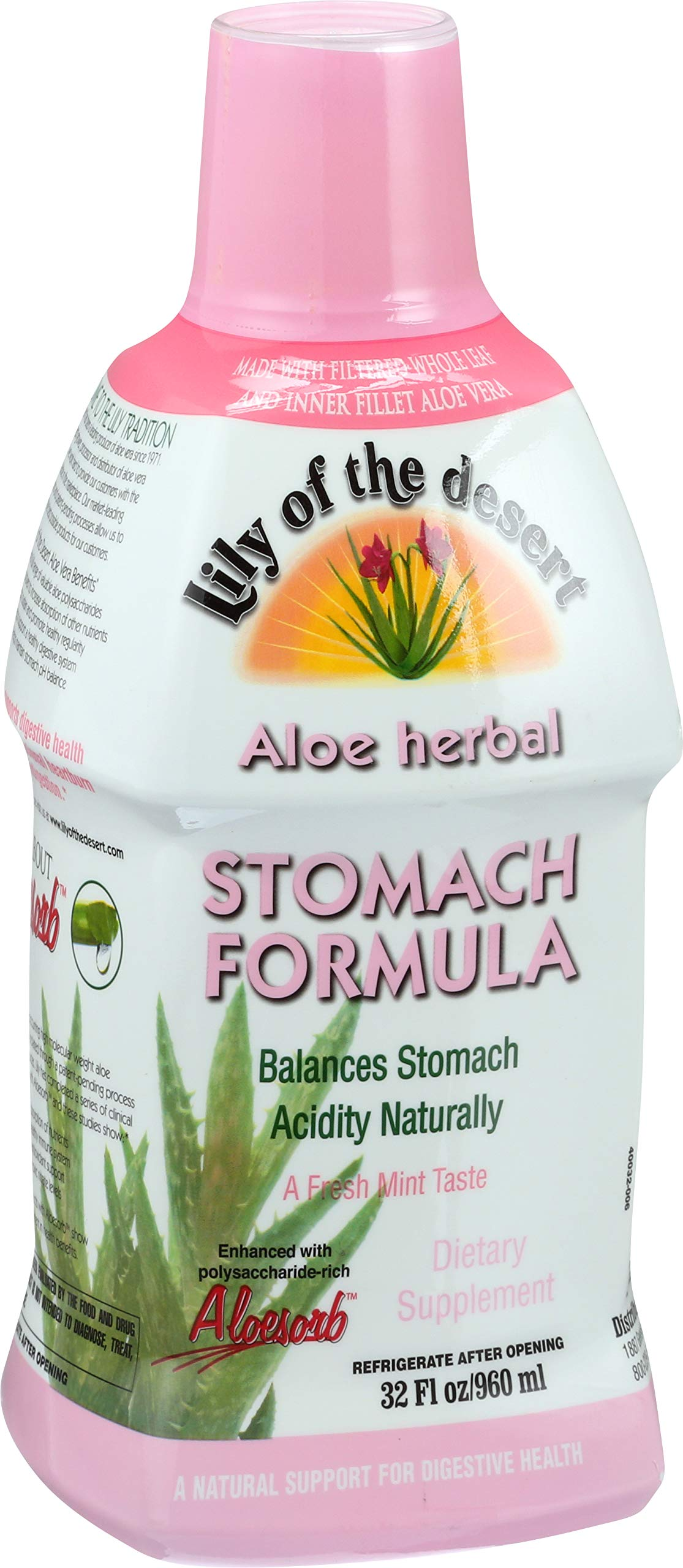 Lily of The Desert Aloe Vera Stomach Formula, 32 Fluid Ounces (2 Pack)