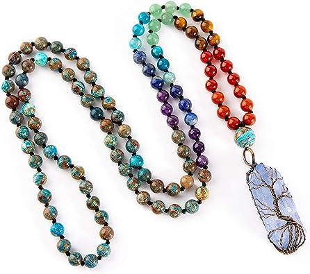 108 mala necklace amazonite mala buddhist mala yoga mala prayer mala meditation mala meditation necklace yoga jewelry custom mala