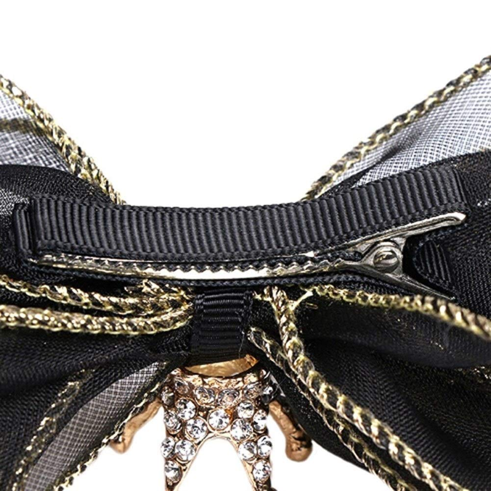 Color : Black Pet Accessories Three-dimensional Bow Hairpin Crown For All Cats Dog Bow Hairpin Headdress Dog Bows Dog Hair Bows Dog Headdress