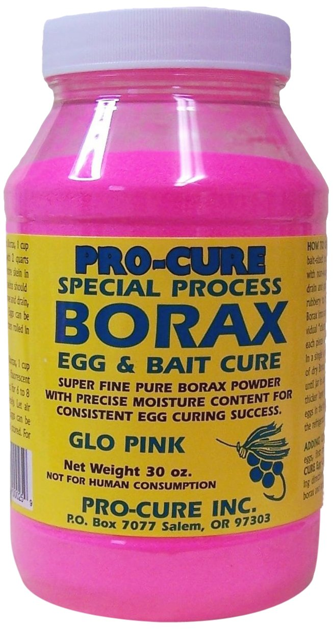 Pro-Cure Borax Egg and Bait Cure Powder, 30-Ounce, Glo Pink