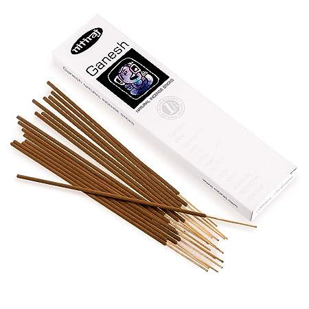 Nitiraj Platinum Ganesh Fair Trade Incense Masala Sticks 25g - Fertility -  Abundance - Health - Prosperity - Communication - Manifestation - Prayer