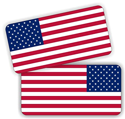 aa6dec2d83e2f8 Pair of American Flag Hard Hat Stickers / Decals / Labels Tool Lunch Box  Helmet Patriotic Old Glory - - Amazon.com