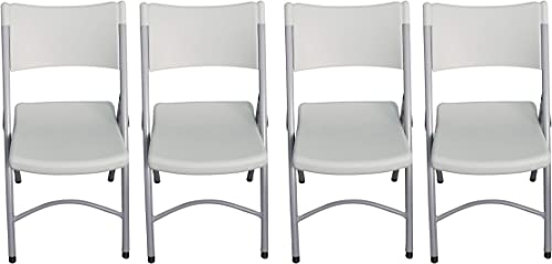 Laguna Home VC008 Folding Event Chair, White, Pack of 4
