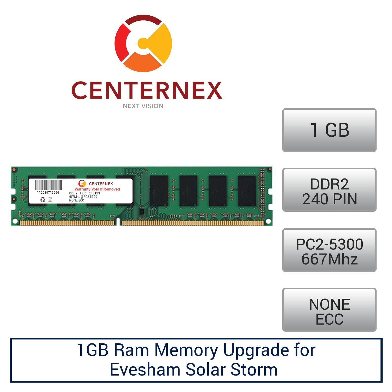 1GB RAM Memory for Evesham Solar Storm (DDR25300 NonECC) Desktop Memory Upgrade by US Seller