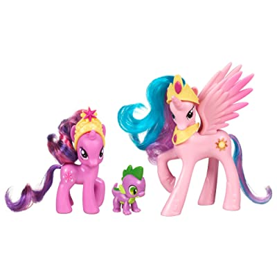 My Little Pony Friendship is Magic 3 Pack Royal Castle Friends With Twilight Sparkle, Spike The Dragon, and Princess Celestia: Toys & Games