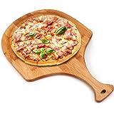Pizza Peel,Premium Natural Bamboo Pizza Peel,Pizza Spatula Paddle Cutting Board Handle,Perfect for Homemade Pizza, Bread Baki