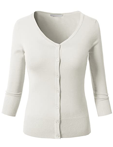 f540d0c2b8790 H2H Womens Casual Slim Fit Cardigans 3 4 Sleeve Button Down Knitted ...