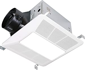 KAZE APPLIANCE Ultra Quiet Bathroom Exhaust Fan with LED Light and Night Light (200 CFM, 2 Sone)