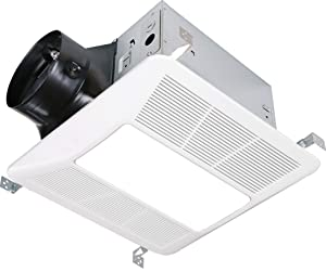 KAZE APPLIANCE Ultra Quiet Bathroom Exhaust Fan with LED Light and Night Light (120 CFM, 0.3 Sone)