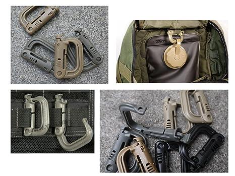 5x Quick Plastic Buckle Tactical Rucksack Tasche Gurtband Gurtband Clip ZF