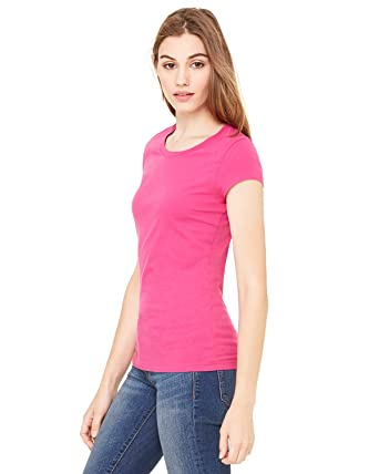 73968833ed3 Image Unavailable. Image not available for. Color  Bella Women s Marcelle  Sheer Jersey Longer-Length T-Shirt B8101 ...