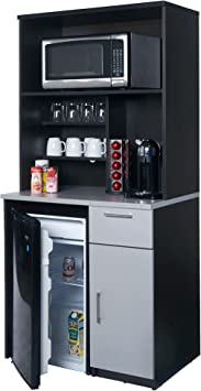 Instantly Create Your New Break Room!!! Coffee Kitchen Lunch Break Room Furniture Cabinets Fully Assembled Ready to Use 1pc Group Model 3283 Color Espresso Note: Purchase Includes Furniture ONLY .