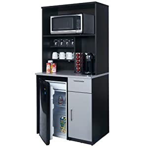 Coffee Break Lunch Room Furniture FULLY ASSEMBLED Ready To Use 2pc Group BREAKTIME Model 3199- EspressoGrey Color.INSTANTLY create your new Coffee Break Lunch Room!! (Includes Furniture Cabinets Only)