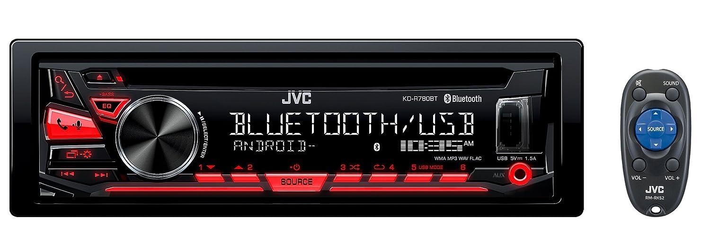 JVC KD-R780BT 1-DIN CD Receiver with Bluetooth and JVC App Remote KDR780BT