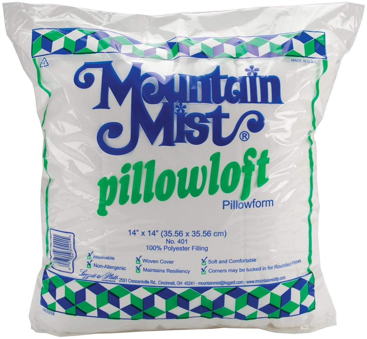 Mountain Mist Pillowloft Pillowforms, 14-inch-by-14-inch Notions - In Network 401MM