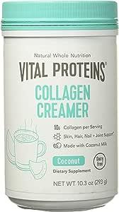 Vital Proteins Collagen Creamer (Coconut, 10oz) - Dairy Free, Paleo and Keto Friendly