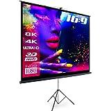 "eSmart Germany MISATI | Stativleinwand | 266 x 149 cm (120"") 16:9 | Vollmaskierung | Heimkino Beamer Projektionsleinwand Stativ Leinwand LCD LED"