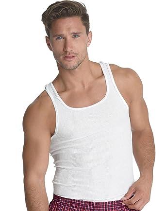 109f8e78c5eb6 Hanes Men s 6 Pack A-Shirts Classic Tagless Tanks - White - Large at ...