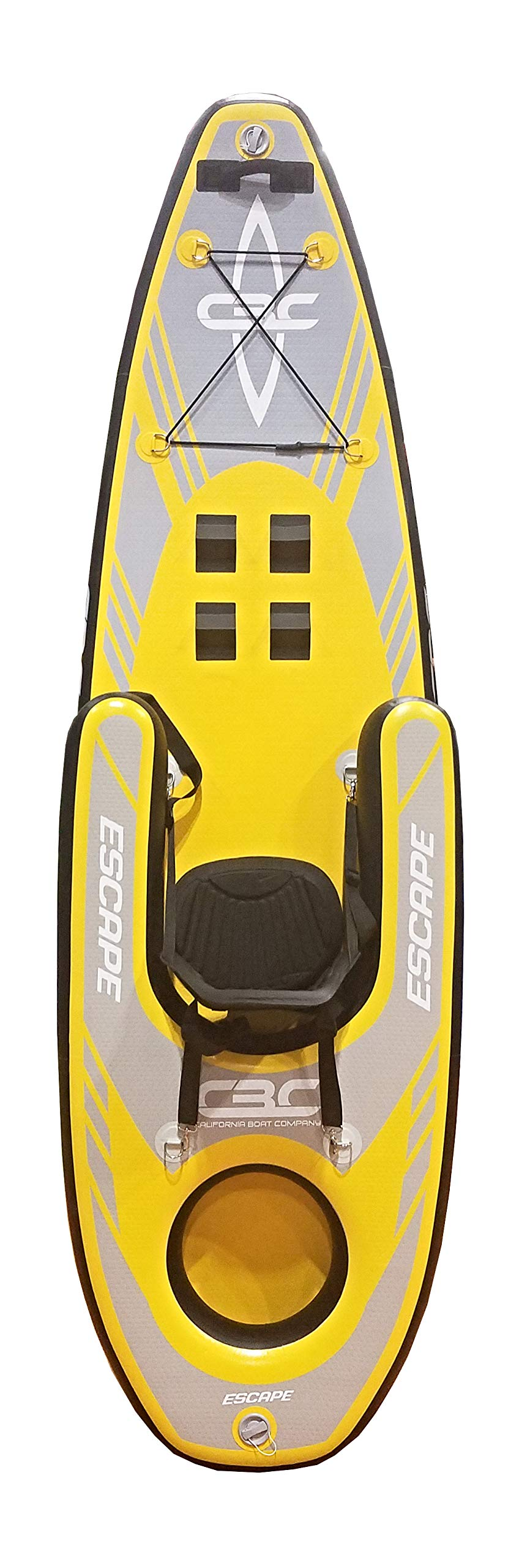 California Board Company California Boat Company Escape I-Kayak Inflatable Kayak Package One Size, Yellow by California Board Company