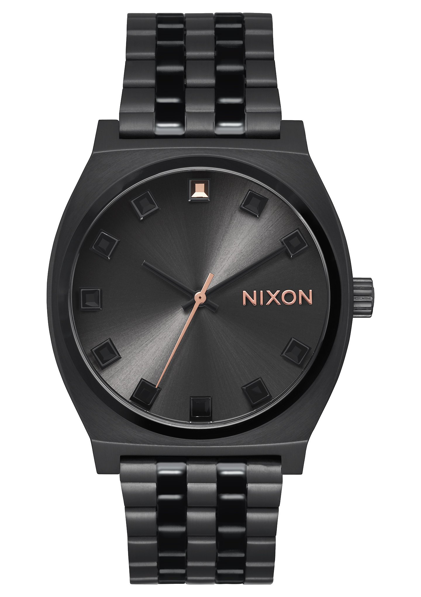 Nixon Women's 'Time Teller' Quartz Metal and Stainless Steel Watch, Color:Black (Model: A0452525-00)
