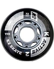 K2 - Juego de Ruedas (Paquete de 4 Unidades), Active Wheel de 72