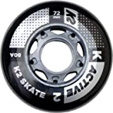 K2Rollers 72mm Active Wheel Pack de 8/ilq5Rollers Rouleaux de rechange 30b3007.1.1